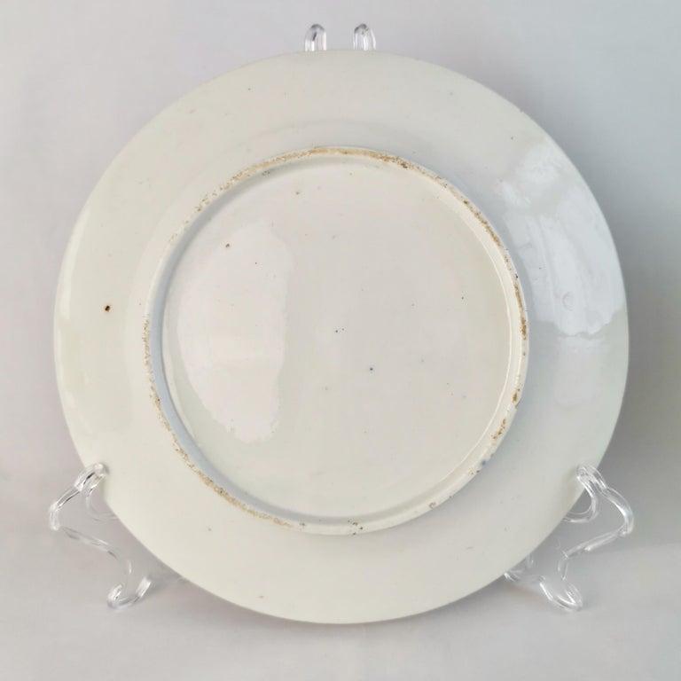 Coalport John Rose Porcelain Plate, Cobalt Blue, Gilt, Flowers, Georgian 3