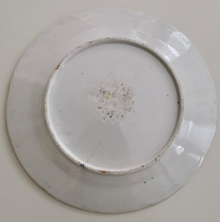 Coalport John Rose Porcelain Plate, Cobalt Blue and Flowers, Regency 1805-1810 For Sale 2