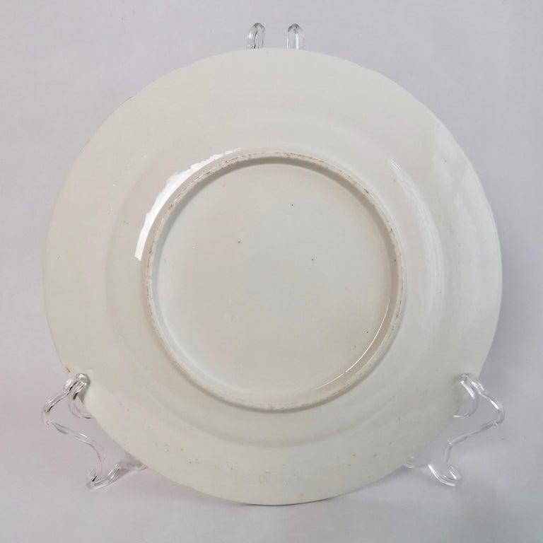 Coalport John Rose Porcelain Plate, White Floral Dulong Blind-Moulded circa 1815 For Sale 5