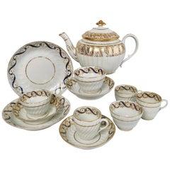 Coalport John Rose Porcelain Tea Service, White and Gilt, Georgian, circa 1795
