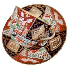 Coalport John Rose Porcelain Teacup, Japan Imari Pattern, Regency ca 1805
