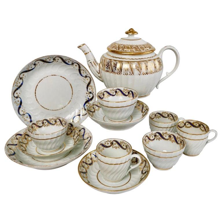 Coalport John Rose Tea Service, circa 1795 For Sale