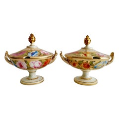 Coalport Pair of Gilded Sauce Tureens, Marquess of Anglesey, Regency, circa 1820
