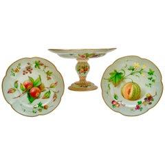 Coalport Part Dessert Service, Fruit Paintings, 1850-1865
