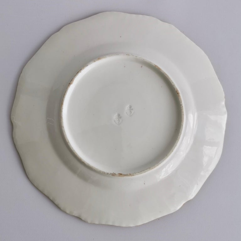 Coalport Porcelain Part-Dessert Service, Maroon Botanical Cecil Jones, 1820-1825 13
