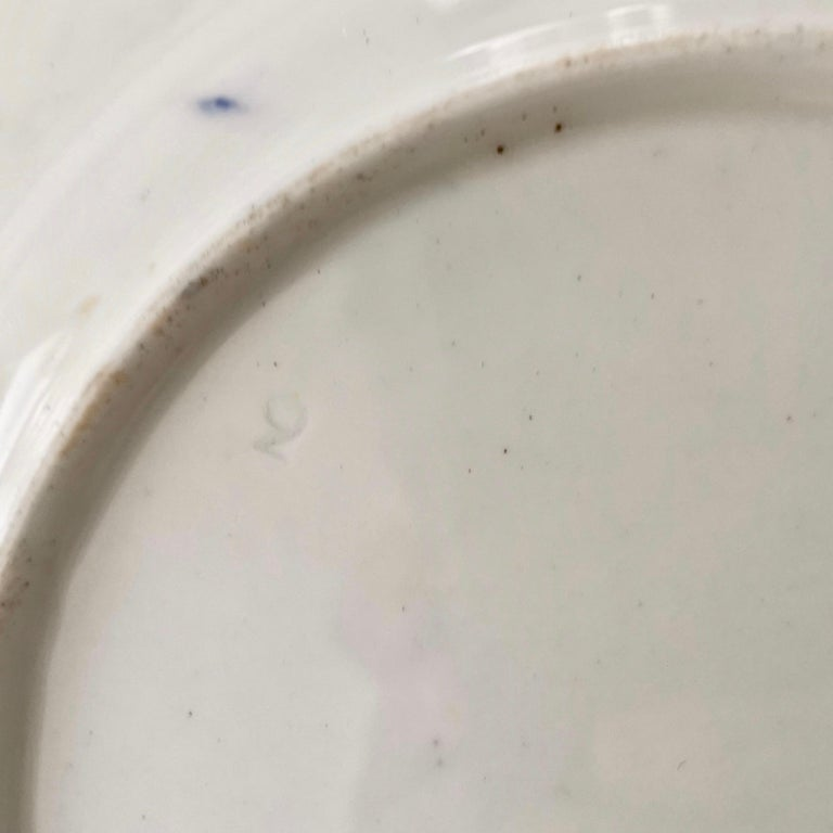 Coalport Porcelain Plate, Cobalt Blue and Spectacular Flowers, Regency 1820-1825 For Sale 9