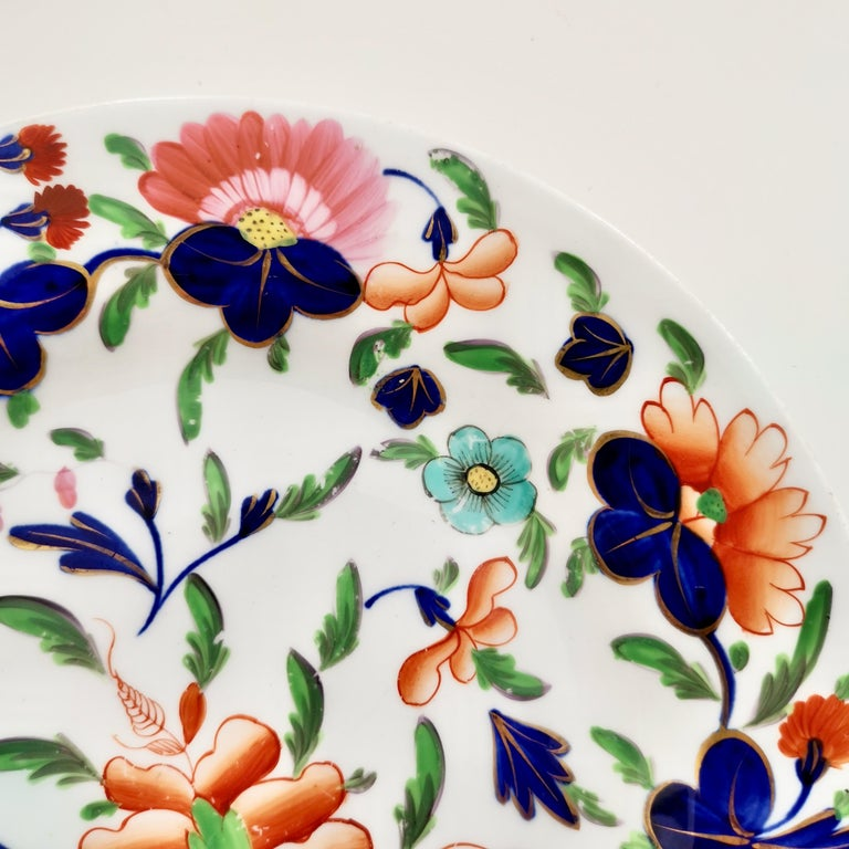 Coalport Porcelain Plate, Imari Pattern, Regency, circa 1820 In Good Condition For Sale In London, GB