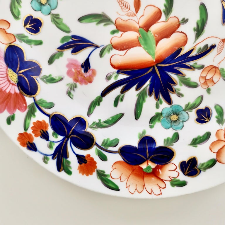 Coalport Porcelain Plate, Imari Pattern, Regency, circa 1820 For Sale 1