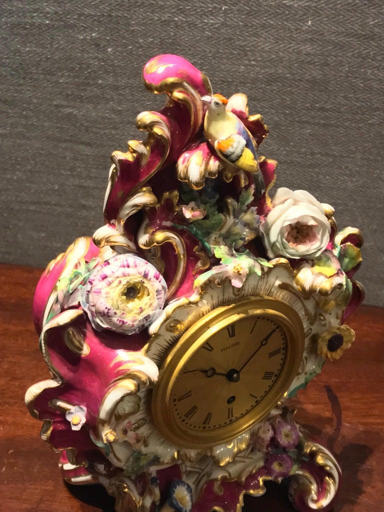 Coalport Porcelain Timepiece by Benjamin Lewis Vulliamy, London, No. 1186