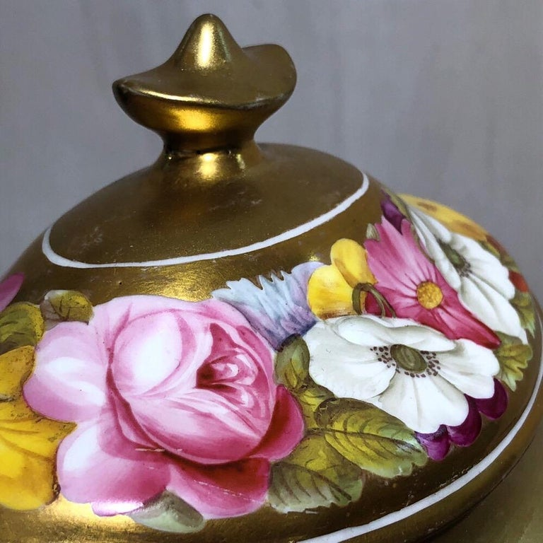 Coalport Sucrier and Matching Teapot Stand, Baxter Decorated, circa 1815 In Good Condition For Sale In Geelong, Victoria