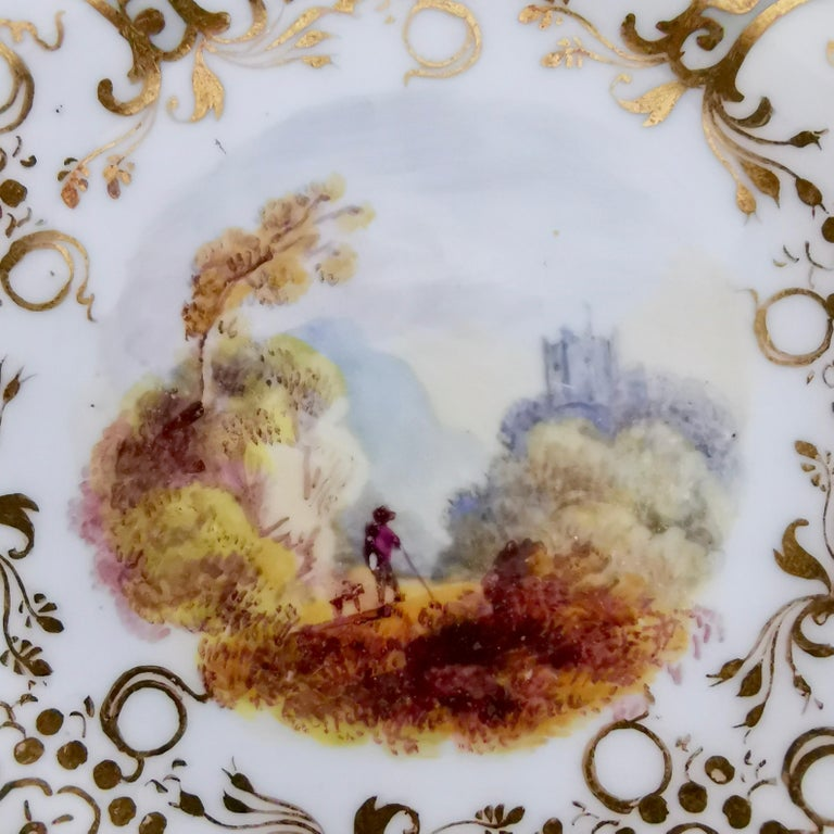 Coalport Teacup, Adelaide Shape with Superb Landscapes, 1831 '1' In Good Condition In London, GB