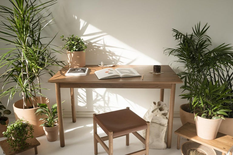 Coast Table by Sun at Six, Nude, Minimalist Dining Table or Desk in Wood In New Condition For Sale In San Jose, CA