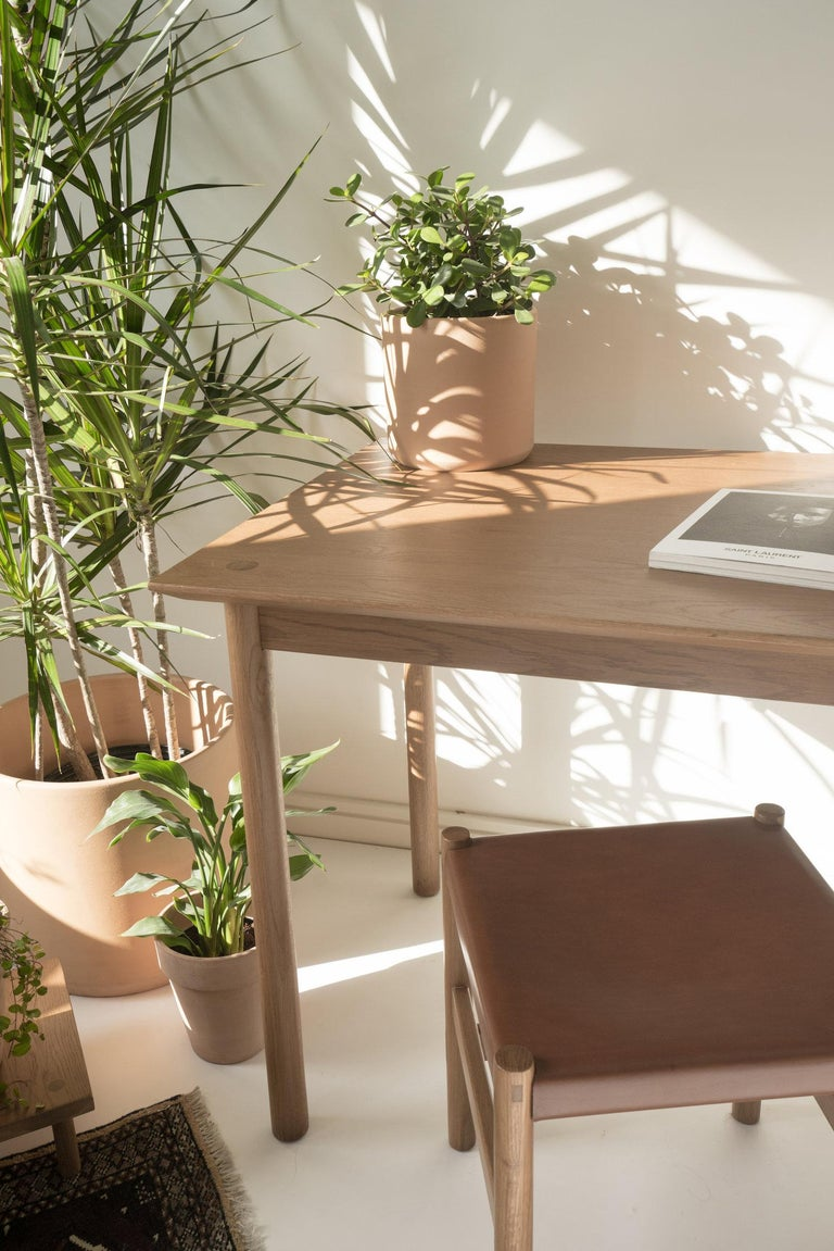 Contemporary Coast Table by Sun at Six, Nude, Minimalist Dining Table or Desk in Wood For Sale