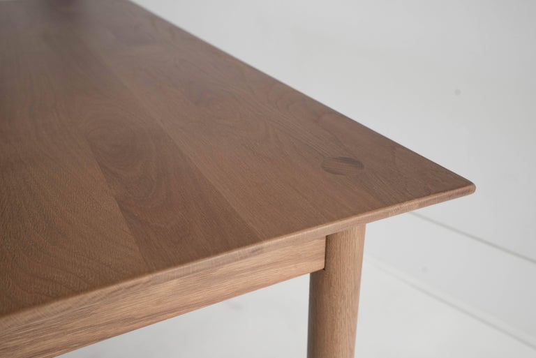 Mid-Century Modern Coast Table by Sun at Six, Sienna, Minimalist Dining Table or Desk in Wood For Sale