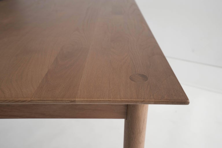 Chinese Coast Table by Sun at Six, Sienna, Minimalist Dining Table or Desk in Wood For Sale