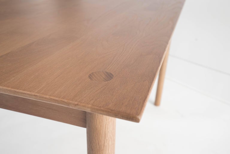 Joinery Coast Table by Sun at Six, Sienna, Minimalist Dining Table or Desk in Wood For Sale