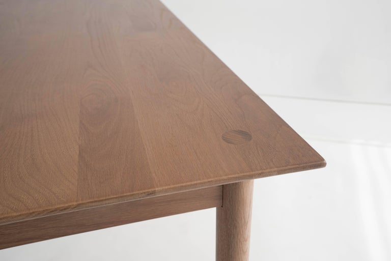 Coast Table by Sun at Six, Sienna, Minimalist Dining Table or Desk in Wood In New Condition For Sale In San Jose, CA
