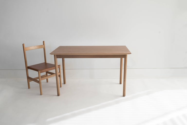 Contemporary Coast Table by Sun at Six, Sienna, Minimalist Dining Table or Desk in Wood For Sale