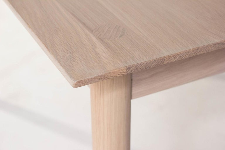 Chinese Coast Table by Sun at Six, Nude, Minimalist Dining Table or Desk in Wood For Sale