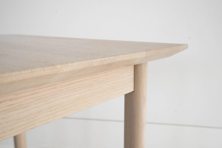 Sun at Six is a contemporary furniture design studio that works with traditional Chinese joinery masters to handcraft our pieces using traditional joinery. Handcrafted using traditional joinery. The coast table can be used as a desk or dining table.