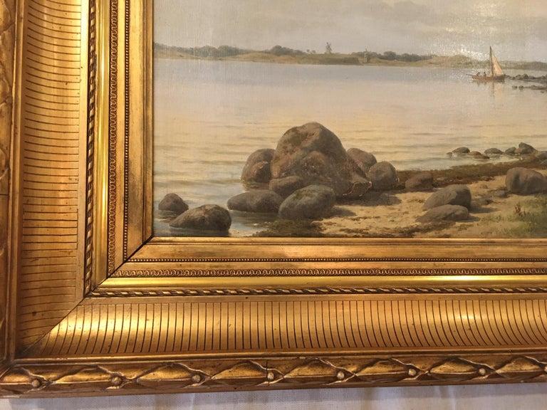 Danish Coastal Landscape Painting by Carl Baagøe For Sale