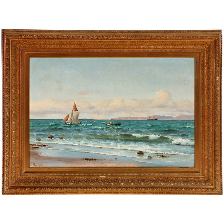 Coastal Painting by Holger Lübbers For Sale