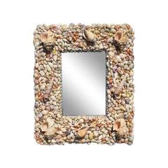 Coastal Rectangular Sea Shell Encrusted Wall Mirror