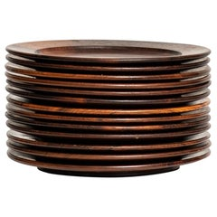 Coaster Plates in Rosewood Attributed to Jens Quistgaard Produced in Denmark