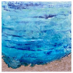 Coastline 1 by Liora Textured Resin Abstract Canvas Sea Contemporary Painting