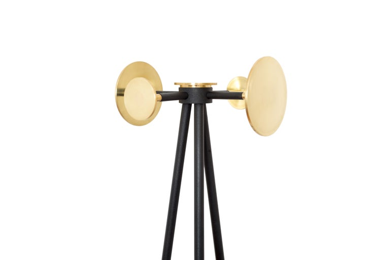 Coat and Umbrella Stand, Brass and Metal, Contemporary Mexican Design In New Condition For Sale In Mexico City, MX