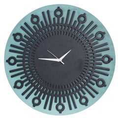 Coat Brazilian Contemporary Lacquer Wall Clock by Lattoog