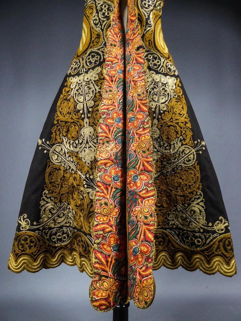 Coat in wool felt embroidered with silver threads - Greece Empire Ottoman 19th C For Sale 5