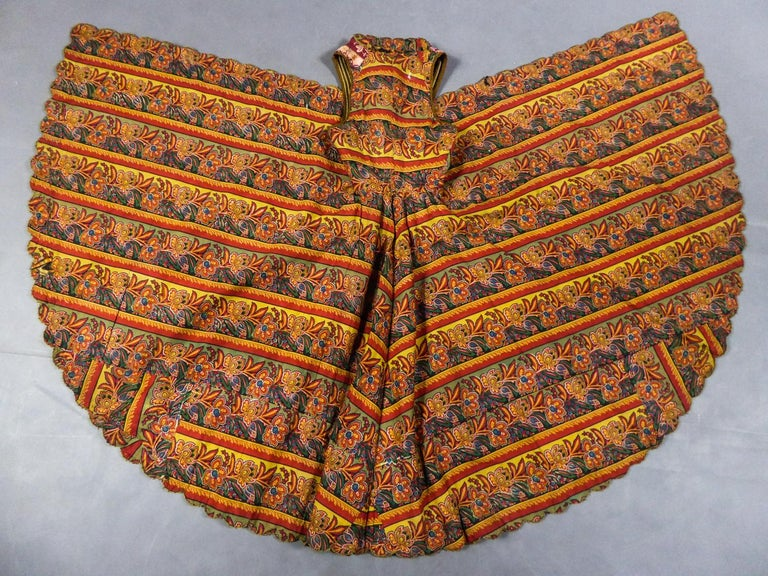 Brown Coat in wool felt embroidered with silver threads - Greece Empire Ottoman 19th C For Sale