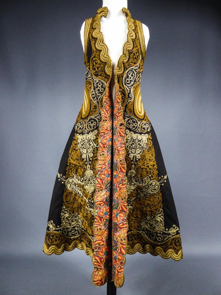 Coat in wool felt embroidered with silver threads - Greece Empire Ottoman 19th C For Sale 1