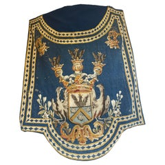 Coat of Arms Handwoven Tapestry, Early 18th Century