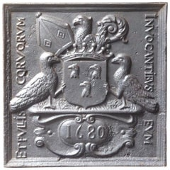 'Coat of Arms of the Machault Family' Fireback, 17th Century