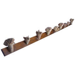 Coat Rack with Cat and Dog Heads
