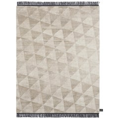 Coates Place Triangle Pattern Black Fringes Rug by CC-Tapis