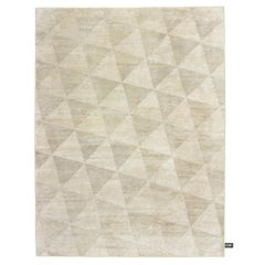 Coates Place Triangle Pattern Yellow Fringes Rug by CC-Tapis