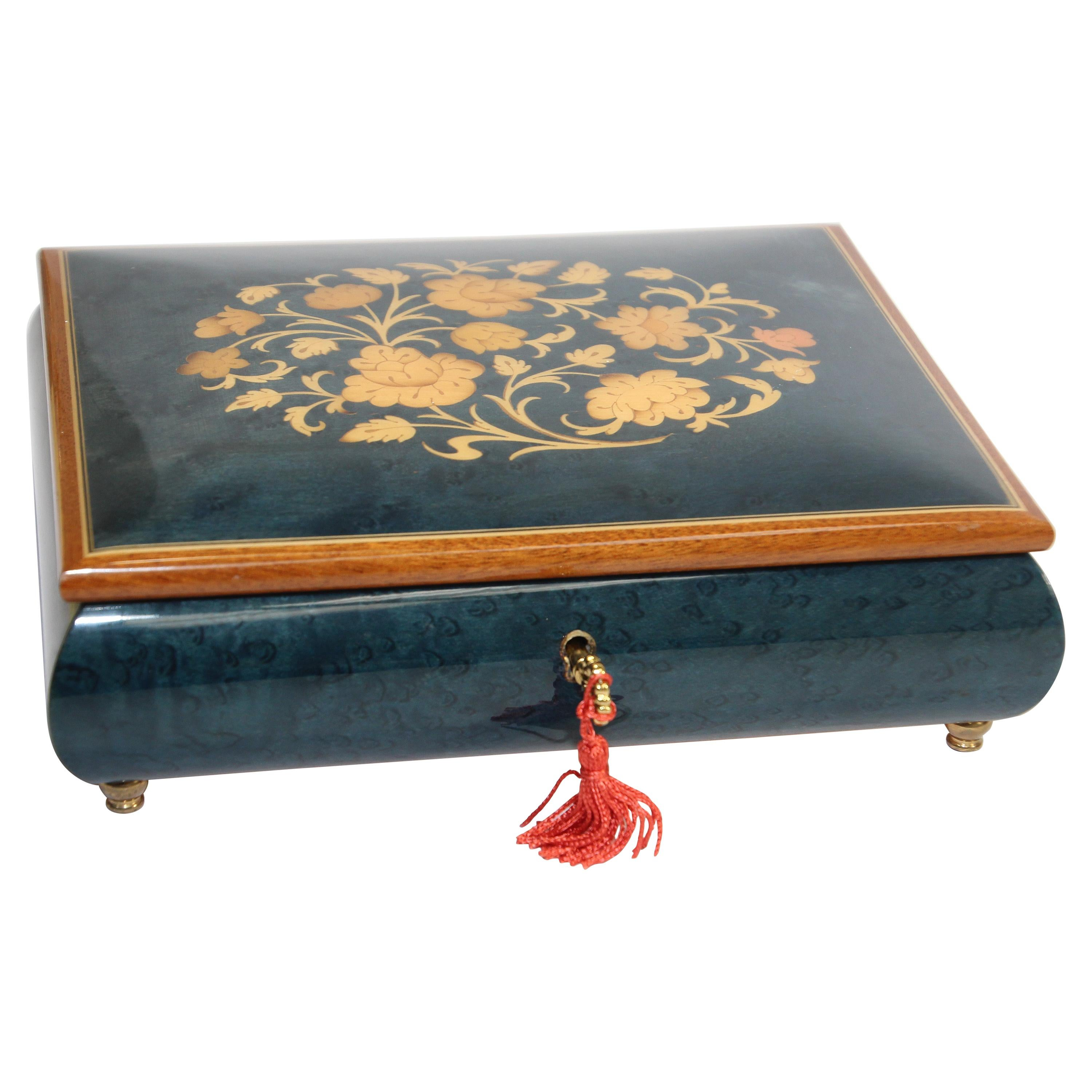 Cobalt Blue Jewelry Music Box, Made in Italy