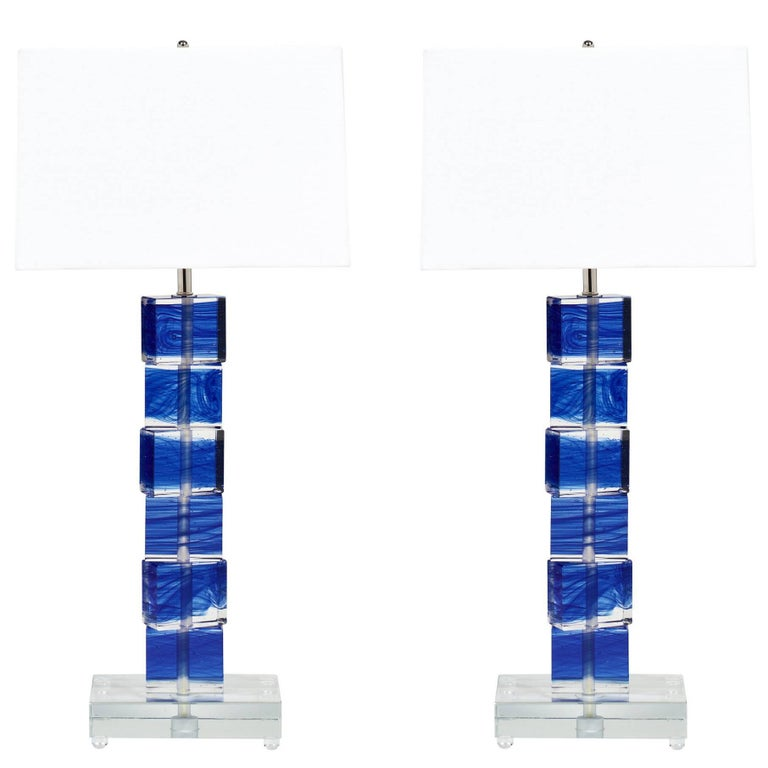 Cobalt Blue Murano Glass Lamps For Sale