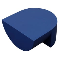 Cobalt Blue Para 01 Side Table in Norway Spruce by Henrik Odegaard