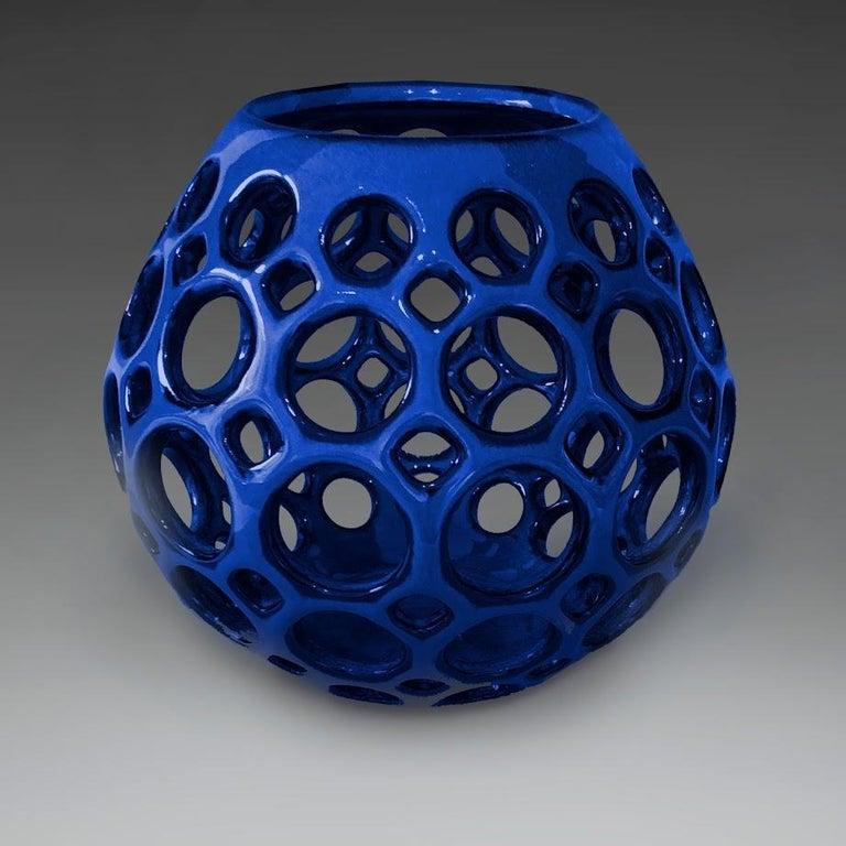 Other Cobalt Blue Teardrop Tabletop Candleholder, in Stock For Sale