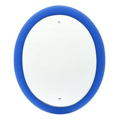 Cobalt Blue Vintage Glass Mirror