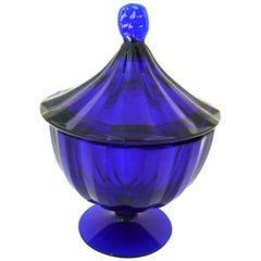 Cobalt Glass Bonbonnière, circa 1900
