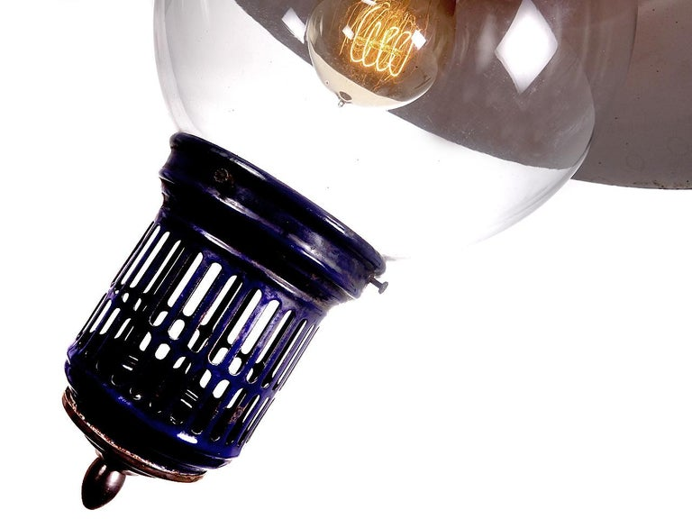 American Cobalt Humphrey Gas Lamp, Newly Wired For Sale