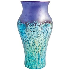 Cobalt Phenomen Gre 377 Vase Loetz Crackle Glass, circa 1900