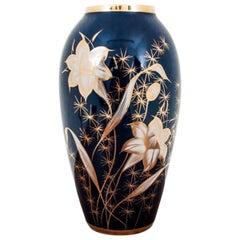Cobalt Vase from Chodzież, Poland, 1960s