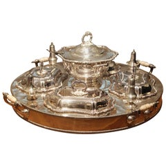Cobb Sheffield England Silver Plated Serving Lazy Susan