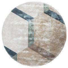 Cobblestone Circular Soft Rug in Tencel by Deanna Comellini 250 cm